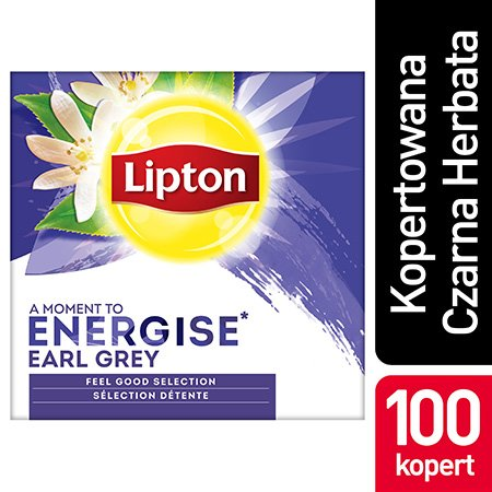 Lipton Feel Good Selection Earl Grey (Czarna Herbata z aromatem bergamotki) 100 kopert -