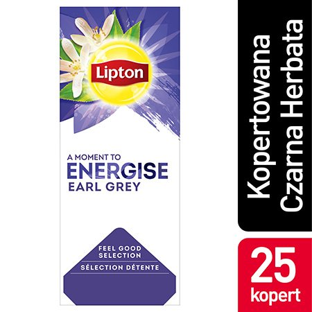 Lipton Feel Good Selection Earl Grey (Czarna Herbata z aromatem bergamotki) 25 kopert -
