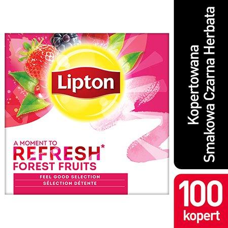 Lipton Feel Good Selection Forest Fruits (Czarna Herbata z orzeźwiającą nutą owoców leśnych) 100 kopert -