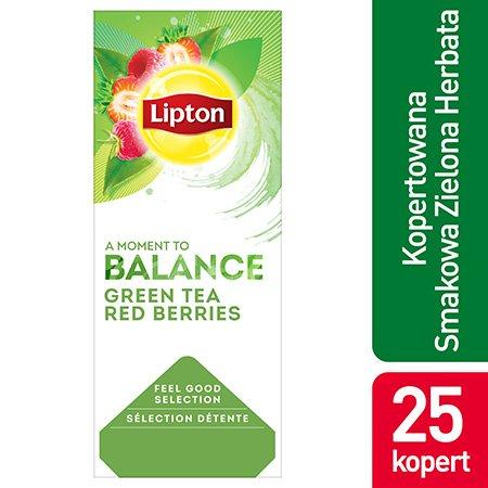 Lipton Feel Good Selection Green Tea Berries (Zielona herbata z delikatną nutą truskawki i maliny) 25 kopert -