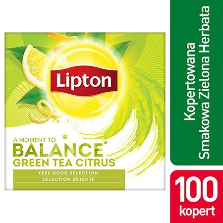 Lipton Feel Good Selection Green Tea Citrus (Zielona herbata z delikatną nutą owoców cytrusowych) 100 kopert -