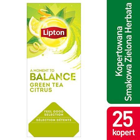 Lipton Feel Good Selection Green Tea Citrus (Zielona herbata z delikatną nutą owoców cytrusowych) 25 kopert -