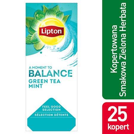 Lipton Feel Good Selection Green Tea Mint (Zielona Herbata z dodatkiem mięty) 25 kopert -