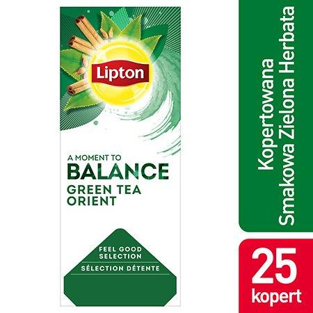 Lipton Feel Good Selection Green Tea Orient (Zielona herbata z delikatną nutą orientalnych przypraw) 25 kopert -