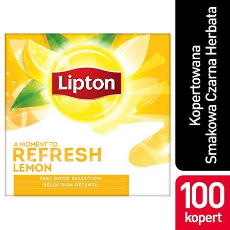 Lipton Feel Good Selection Lemon (Czarna herbata z orzeźwiającą nutą skórki cytrynowej) 100 kopert -
