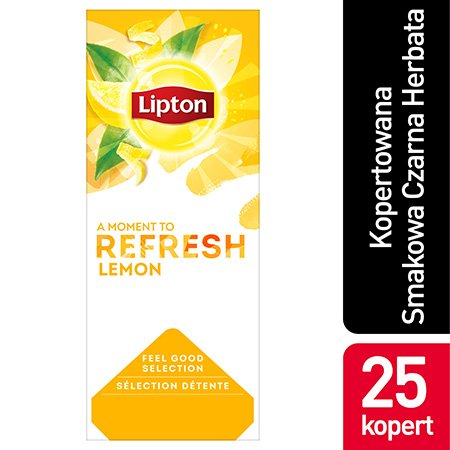 Lipton Feel Good Selection Lemon (Czarna herbata z orzeźwiającą nutą skórki cytrynowej) 25 kopert -