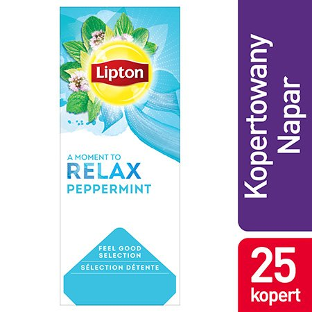 Lipton Feel Good Selection Peppermint (Herbatka miętowa) 25 kopert -