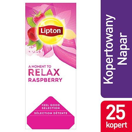 Lipton Feel Good Selection Rasberry (Herbatka malinowa) 25 kopert -