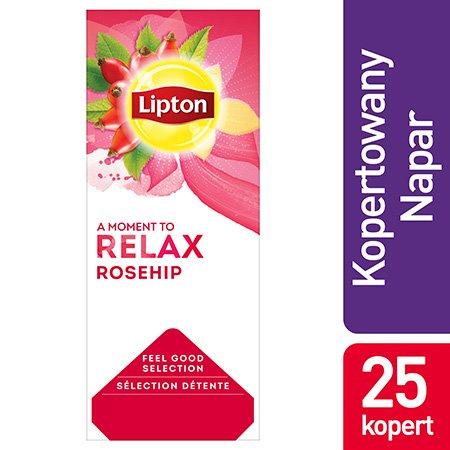 Lipton Feel Good Selection Rosehip (Herbatka ziołowa z dzikiej róży i hibiskusa) 25 kopert -