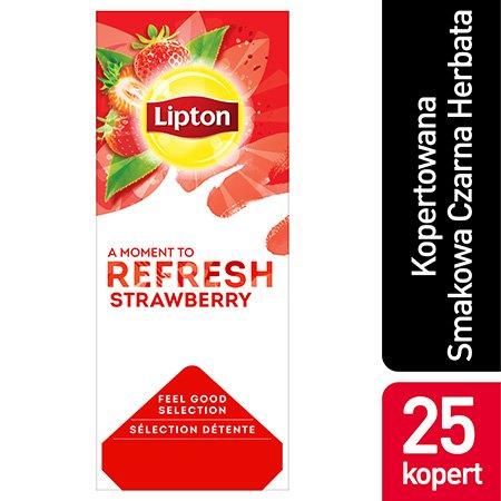 Lipton Feeld Good Selection Strawberry (Czarna herbata z orzeźwiającą nutą truskawki) 25 kopert -