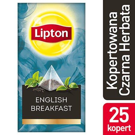 Lipton Piramida English Breakfast (Kompozycja czarnych herbat) 25 kopert -