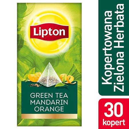 Lipton Piramida Green Tea Mandarin Orange (Herbata zielona o smaku mandarynki i pomarańczy) 30 kopert -