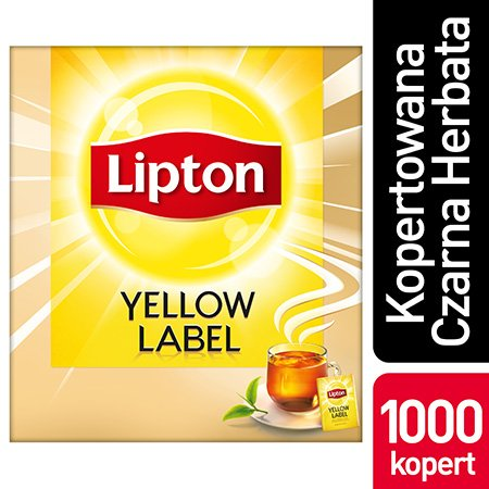 Lipton Yellow Label Czarna Herbata 1000 kopert -