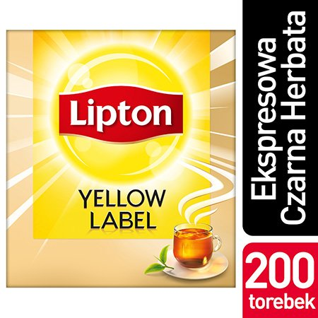 Lipton Yellow Label Czarna Herbata 200 torebek ekspresowych -