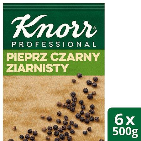 Pieprz czarny ziarnisty z Wietnamu Knorr Professional 0,5 kg -