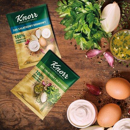 Próbki Sosów sałatkowych Knorr Professional 100% naturalnych składników -
