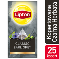Lipton Piramida Earl Grey (Herbata czarna z aromatem bergamotki)
