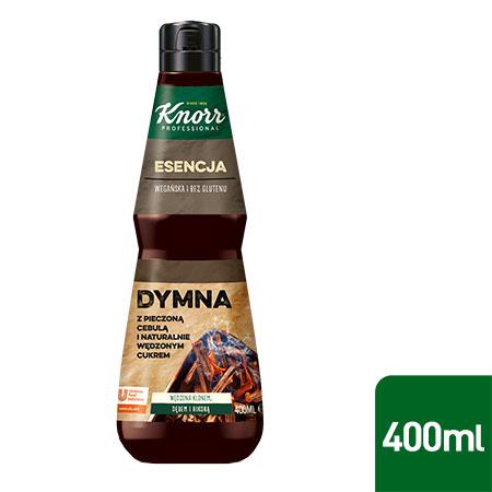 Esencja Dymna Knorr Professional 0,4 l - Przygotowana z naturalnych składników, takich jak wędzony cukier i pieczona cebula.