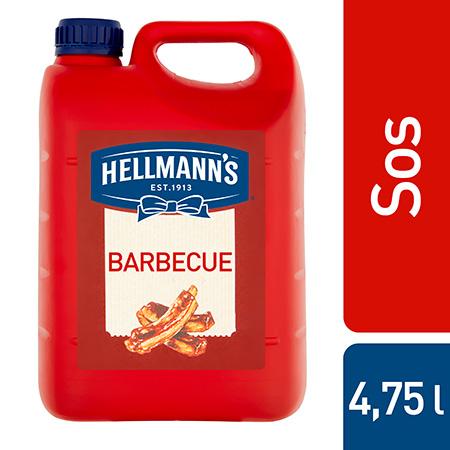 Hellmann's Barbecue Sos 4,8 kg - Sos Barbecue Hellmann's o wyrazistym dymnym smaku.