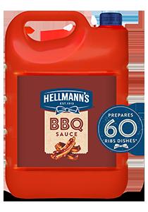 Hellmann's Sos Barbecue 4,8kg - Sos Barbecue Hellmann's o wyrazistym dymnym smaku.