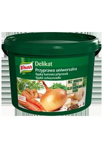 Knorr Delikat Przyprawa Uniwersalna w opakowaniu 3 kg - owy Delikat wzbogaca smak szkolnego menu i spełnia kryteria Rozporządzenia Ministra Zdrowia*
