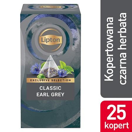 Lipton Pyramid Earl Grey 25 kopert - Wysokiej jakości herbata, która umili klientom czas spędzony w lokalu.
