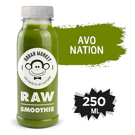 Urban Monkey Raw Smoothie Avo Nation 250 ml