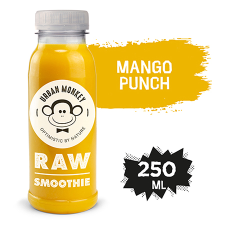 Urban Monkey Raw Smoothie Mango Punch 250 ml - Odkryj portfolio Urban Monkey!