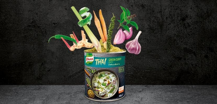 Zielona pasta curry Knorr 0,85kg - Polacy coraz częsciej poszukują orientalnych smaków