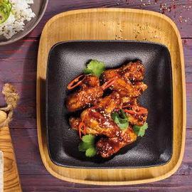 Pikantne skrzydełka z kurczaka w stylu koreańskim