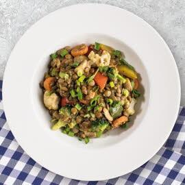 Soczewica duszona z warzywami