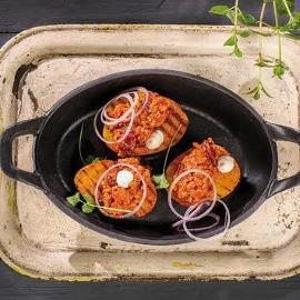 Ziemniaki faszerowane chili con carne