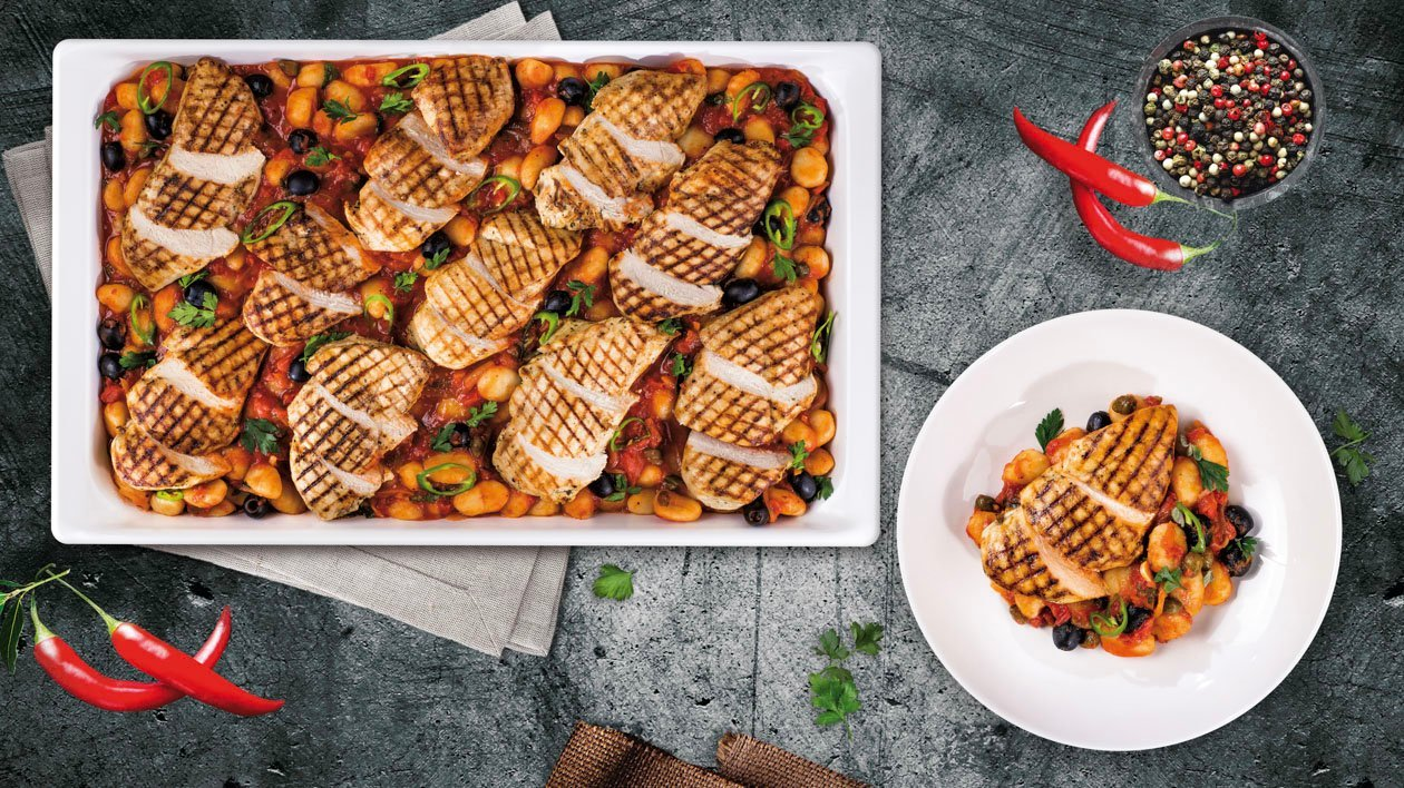 Grillowany filet z kurczaka z sosem Marinara i Gnocchi