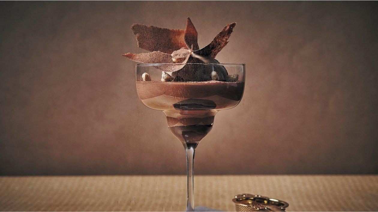 Mus czekoladowy z niespodzianką kawową