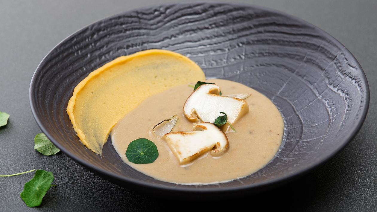 Zupa borowikowa z puree z dynią