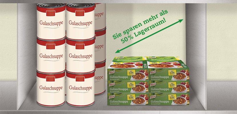Knorr Gulaschsuppe Konzentriert 3 KG - Beste Zutaten in einem Konzentrat.
