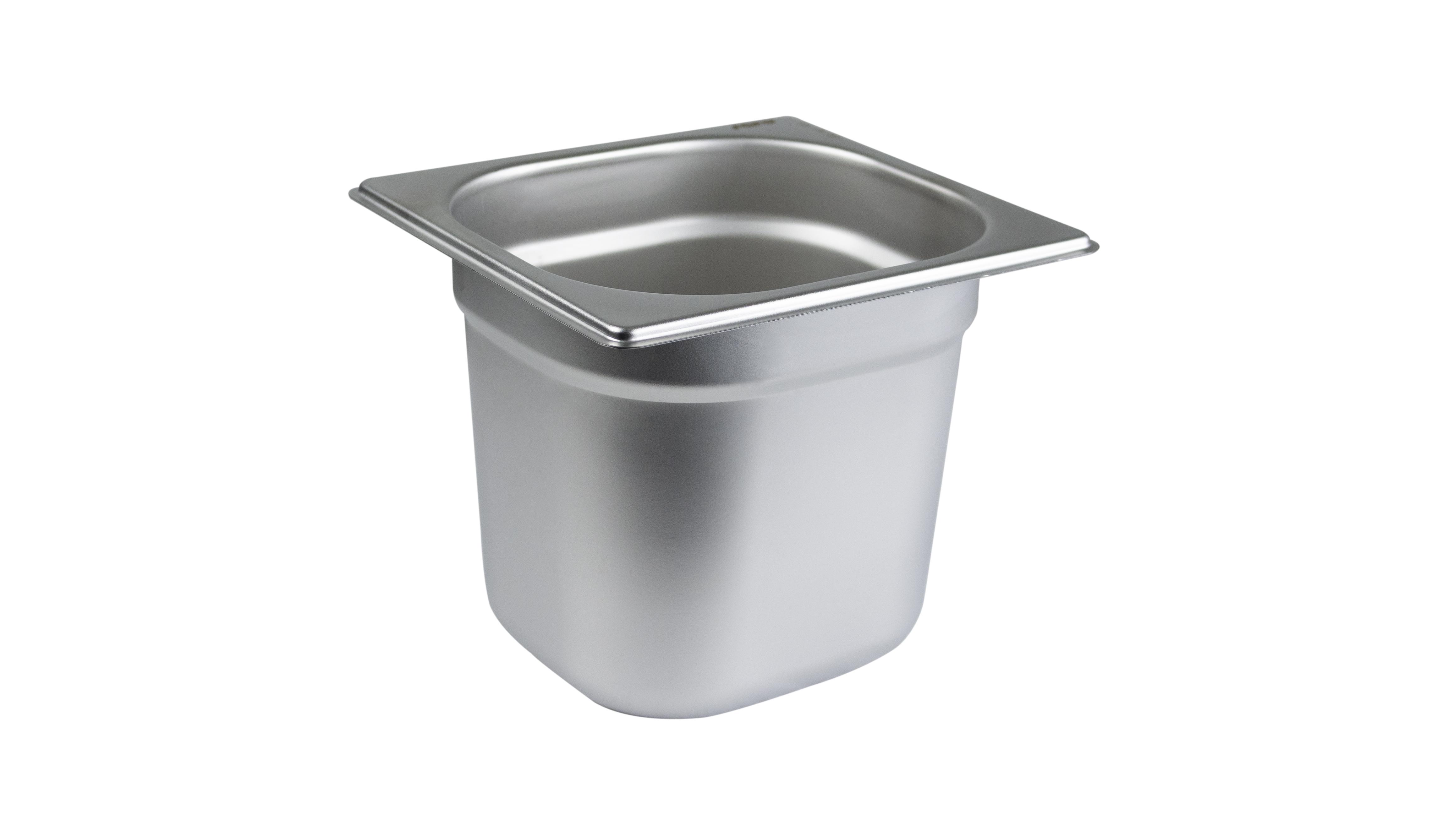 1/6 GN-Behälter, Edelstahl 14/4, Tiefe: 150 mm