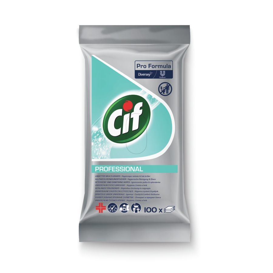 Cif Professional Allzweck-Reinigungstücher 100 Stück