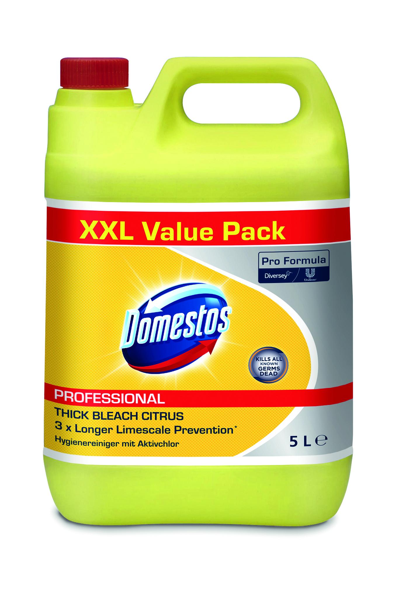 Domestos Professional Hygienereiniger Citrus mit Aktiv-Chlor 5L -