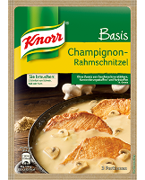 Knorr Basis Champignon- Rahmschnitzel 3 Portionen -