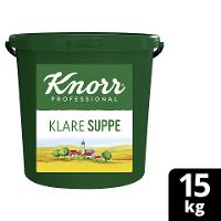 Knorr Professional Klare Suppe rein pflanzlich 15 KG Eimer - Knorr Klare Suppe mit nachhaltig angebautem Gemüse – ideal für vegane und vegetarische Gerichte.