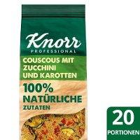 KNORR Couscous mit Zucchini und Karotten 610 g - Knorr Zubereitung für Getreidegerichte –100% natürliche Zutaten mit einem Handgriff.
