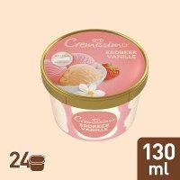 Cremissimo Erdbeer Vanille Eis Becher 130 ml  -