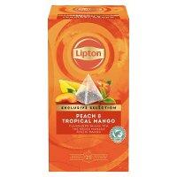 Lipton Pfirsich & Tropische Mango Schwarztee Pyramid 25 Beutel -
