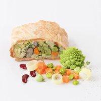 Caterline Gemüsestrudel - vegan 4,5 KG (30 Stk. à ca. 150 g) -