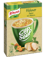 Knorr Cup a Soup Hühner Suppe mit Nudeln Instantsuppe 3x1 Teller -