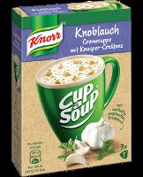 Knorr Cup a Soup Knoblauchcreme mit Knusper-Croûtons Instantsuppe 3x1 Teller -