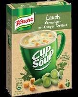 Knorr Cup a Soup Lauchcreme mit Knusper-Croûtons Instantsuppe 3x1 Teller -