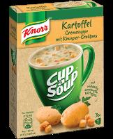 Knorr Cup a Soup Kartoffelcreme mit Knusper-Croûtons Instantsuppe 3 x 450ml -