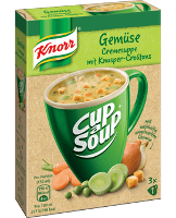 Knorr Cup a Soup Gemüsecreme mit Knusper-Croûtons Instantsuppe 3x1 Teller -